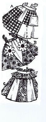 Unique Vintage STUNNING 3 Half APRONS Fabric Sewing Material Sew Pattern # 7264