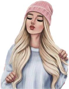 Sticker by - girl cartoon Best Friend Drawings, Girl Drawing Sketches, Girly Drawings, Cartoon Girl Drawing, Girl Drawing Pictures, Girly M, Girl Cartoon Characters, Cartoon Girl Images, Cute Cartoon Girl