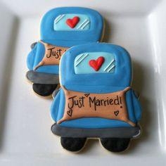 vintage truck cookie   Jocelyn Waite Truck cookie wedding favors