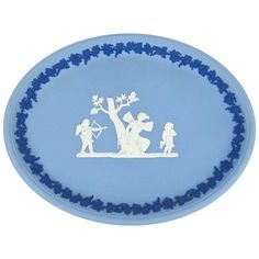 Wedgwood Tri-Color Jasper Ware Oval Tray  | From a unique collection of antique and modern decorative art at https://www.1stdibs.com/furniture/wall-decorations/decorative-art/