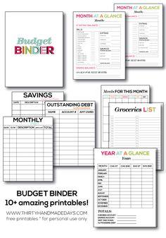 FREE Printable Monthly Bill Organizer: http://teachme2save