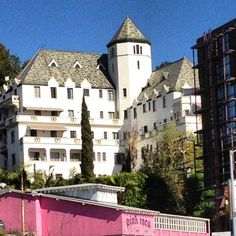 Glitterati Private Tours: The Chateau Marmont Hotel.  A favorite of guests taking a private Hollywood tour.