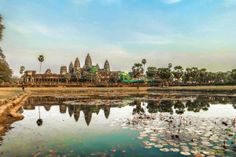 Angkor Wat, Cambodia: set agenda for soul-stirring getaway; tour jaw-dropping restored temples of Angkor Wat, world's largest religious monument & capital of 12th century Khmer empire; stay in gorgeous resort w/ infinity pool & amenities nearby for around $25 a night; note: Angelina Jolie filmed scene from Tomb Raider here, & it can get little crowded w/ tourists; Burma's Bagan temple complex is another great option