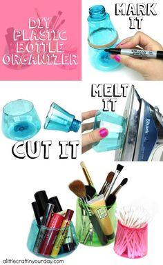 DIY Plastic Bottle Organizer - A Little Craft In Your DayA Little Craft In Your Day