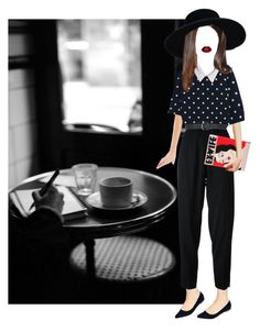 Falling in love at a coffee shop by hanye on Polyvore featuring MANGO, Comme des Garçons, Chanel, Oasis, Olympia Le-Tan and M&Co