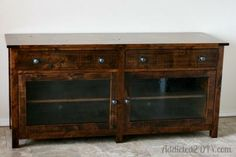 Pottery Barn Inspired Media Console | Do It Yourself Home Projects from Ana White