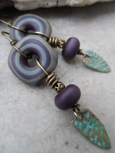 Midst of it All ... Lampwork and Bronze Clay by juliethelen, $44.00