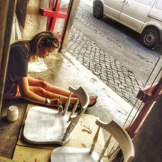 #CostanzaCaracciolo Costanza Caracciolo: Work in progress... Day 4 -AK BAR- ART and KOOKING #akbar #bionationalfood #gallery #conceptstore @akbarweb @francescoarcaofficial @branciagram