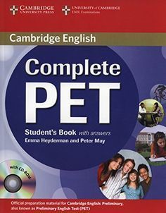 Specification Title: Complete PET Workbook with Answers with Audio CD Publisher: Cambridge Univ Elt Author: Peter May Edition: Paperback Language: English ISBN: English Grammar Book Pdf, English Books Pdf, English Exam, Teaching English, Learn English, Pet Cambridge, Cambridge Exams, Cambridge English, Peter May
