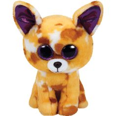 Pablo The Tan Chihuahua Ty Beanie Boos are the cutest collectible plush friends in the world. From Unicorns to puppies and cheeky raccoons, there is a Beanie Boo friend for everyone. Look for the familiar heart-shaped tag that means you' Ty Beanie Boos, Beanie Boo Dogs, Beanie Babies, Big Eyed Stuffed Animals, Ty Plush, Ty Babies, Ty Toys, Chihuahua Dogs, Plush Animals