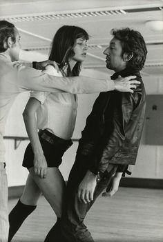 Jane Birkin, muse of Serge Gainsbourg (la belle et la bete, n'est-ce pas, ces deux?)