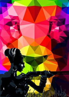Rainbow Colors - lion - acryl Rainbow Colors, Lion, Abstract, Illustration, Artwork, Movie Posters, Pictures, Collection, Leo