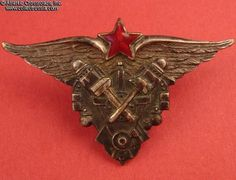 Collect Russia School of Air Force Mechanics graduation badge, 1938-41. Soviet…