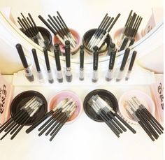 A Beautiful feeling - makeup brushes all washed & cleaned and protected with Brush Guard.  Variety pack of Brush Guard available here http://www.secretfashionfixes.com/p/the-brush-guard-variety-pack/brushguard