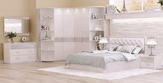 Спальный гарнитур Бэлла белый глянец (Ин) - Мебель в Ирбите - Эстетика