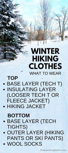 7d48520adf4 Hiking to winter outdoor travel destinations. Best winter hiking clothes for  what to wear hiking