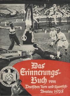 plakat Deutsches Turnfest 1938, Brück,J.G.K. Das Erinnerungsbuch vom Deutschen Turn- und Sportfest, Breslau 1938. Ein Bekenntnis zu Führer, Volk un...