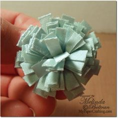 ** My Paper Crafting.com ** Ribbon Flowers Tutorial