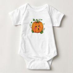 Pumpkin Kiss Emoji Thanksgiving Halloween Baby Bodysuit - thanksgiving day family holiday decor design idea