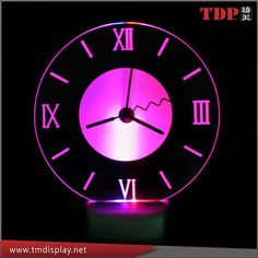 Manufacturer Round Led Clock,Acrylic Led Wall Clock For Bar Photo, Detailed…