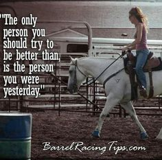 don't try to better than any one else... Just try to be better than what you were yesterday
