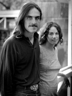 James Taylor and Carole King, 1971, by Barrie Wentzell