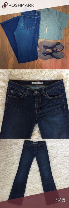 {J Brand} Slim Boot Cut Jeans J Brand slim boot cut jeans in excellent condition! Style 818. 98% Cotton 2% Lycra (they are stretchy but don't sag). Smoke/pet free home. J Brand Jeans