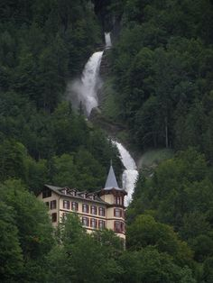 Giessbach Waterfalls, Bernese Oberland, canton of Bern, Switzerland