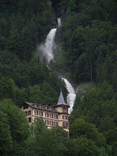 Giessbach Waterfalls, Bernese Oberland, canton of Bern, Switzerland