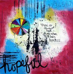 Hopeful . . .  #ArtJournals #MixedMedia #ColorWheel