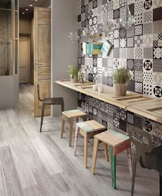 Like #majolicas, Pictart collection offers 18 different #graphic solutions, so that the #architect can have infinite possibilities to personalize his #projects. #CeramicaSantAgostino #designtiles #collage #project #patchwork #decor #interiordecor #interiors #design #tiles #ceramic #gres #art #homedecor #wood #woodlooking #details #elements #archilovers #majolicatiles
