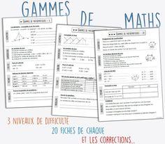 Les gammes de mathématiques CM1-CM2 Math 5, Daily Math, Cycle 3, School Organisation, 12th Maths, Math Measurement, Future Jobs, Math For Kids, E 10