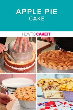 Apple Pie Cake | Brimming with sauted apples sitting on top of my cinnamon spice swirl vanilla cake, and draped in pie crust fondant, this cake was living the American dream. | How To Cake It #Applepiecake #Cakerecipes #Dessert