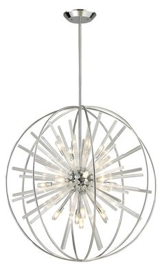 "Artistic Lighting Twilight Collection 15 Light Pendant in Other Pendants, style - Transitional, by ELK Lighting, finish - Chrome, family - Twilight""> Sphere Light Fixture, Pendant Light Fixtures, Light Pendant, Elk Lighting, Dining Room Lighting, Lighting Ideas, Sputnik Chandelier, Chandelier Lighting, Chandeliers"