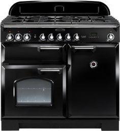 Rangemaster 92490 Classic Deluxe 100 Dual Fuel Range Cooker - Black