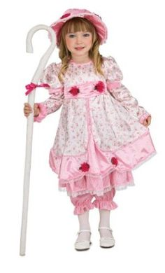 Little Bo Peep Costume.  $22.19 - $36.99            Never lose your sheep again with Rubies' adorable Little Bo Peep costume. This adorable pink and white floral dress, with matching pantaloons and bonnet,  will ensure the loyalty of any sheep. Available in Toddler (size 2), and children's Small (size 4 to 6). Rubies brings...