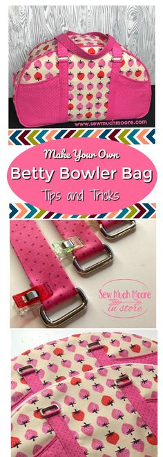 Make your own Betty Bowler Bag with the Swoon Pattern. Check out the tips and tricks and even a video tutorial! I just love this designer bag!