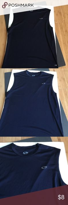 MENS CHAMPION BLUE ATHLETIC TOP SHIRT Navy blue. Duo dry. -No trades.  Bundle and save 20%off. Champion Shirts