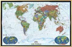 Collins childrens world map map posters pinterest pictorial framed canvas print framed world maps art 20x30in gumiabroncs Images