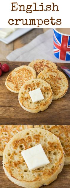 English crumpets are fluffy and light sourdough round breads with characteristic…