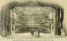 Opera House at Niblo's Garden, New York City, 1853 Issues Band, Opera House, New York City, Tapestry, History, Garden, Painting, Attendance, Shakespeare