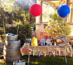 Farmer's Market Inspired Backyard BBQ {First Birthday} // Hostess with the Mostess®