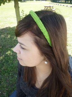 Serre tête tricotin avec le fil Natura DMC