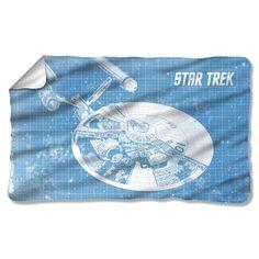 Star Trek 1960's Sci-Fi Action TV Series Enterprise Blueprint Fleece Blanket