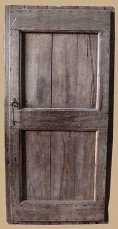 Decapare una porta - Porta da esterno in legno scuro decapata - External door in dark pickled wood