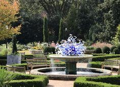 Chihuly sculpture Atlanta Botanical Garden, Botanical Gardens, Fountain, Sculpture, Outdoor Decor, Home Decor, Water Fountains, Interior Design, Sculpting