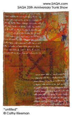 Art quilt by Cathy Kleeman #artquilts #SAQA