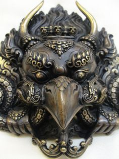 Garuda Mask traditionalartofnepal.com