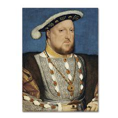 Hans Holbein 'Portrait Of Henry Viii Of England' Canvas Art