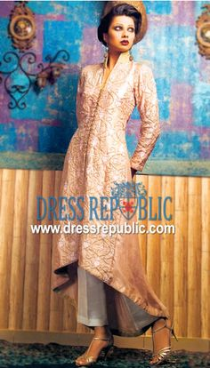 Coffee Malta, Product code: DR1087, by www.dressrepublic.com - Keywords: Top Designers of Shalwar Kameez from Karachi, Lahore and Islamabad